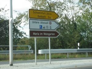 Wegweiser Schweinfurt