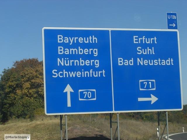 Autobahn nach Schweinfurt